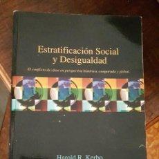 Libros de segunda mano: ESTRATIFICACION SOCIAL Y DESIGUALDAD - HAROLD R. KERBO - QUINTA EDICION MCGRAW HIL 1993. Lote 117037499