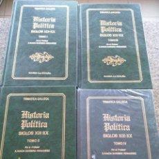 Libri di seconda mano: HISTORIA POLITICA - GALICIA CONTEMPORANEA - 4 TOMOS -- X. RAMON BARREIRO FERNANDEZ -- GAMMA 1982 --. Lote 117062831