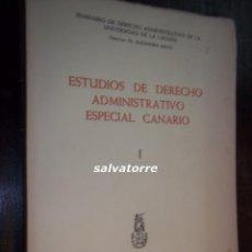 Gebrauchte Bücher - ALEJANDRO NIETO.ESTUDIOS DERECHO ADMINISTRATIVO ESPECIAL CANARIO.1967.TENERIFE.CANARIAS - 117253131