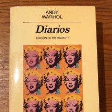 Libros de segunda mano: DIARIOS-ANDY WARHOL(32 €). Lote 117324131