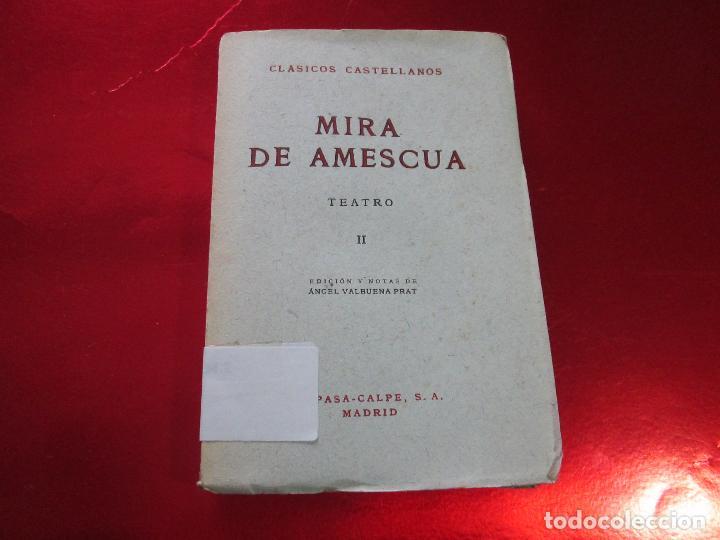 Libros de segunda mano: libro-mira de amescua-teatro II-espasa calpe-1957--angel valbuena prat - Foto 4 - 117477275
