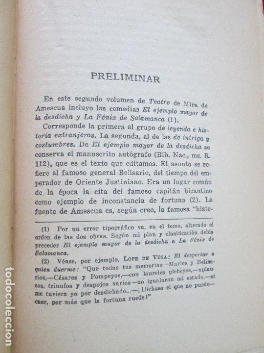 Libros de segunda mano: libro-mira de amescua-teatro II-espasa calpe-1957--angel valbuena prat - Foto 7 - 117477275