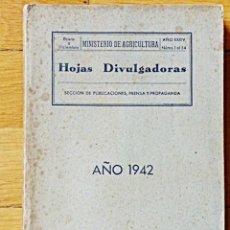 Libros de segunda mano: HOJAS DIVULGADORAS - MINISTERIO DE AGRICULTURA - AÑO 1942 (NÚMS 1 AL 54)AÑO COMPLETO. APICULTURA ETC. Lote 117504171