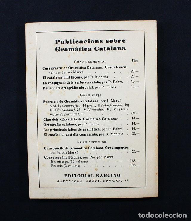 Libros de segunda mano: ELS ALMOGAVERS PER FERRAN SOLDEVILLA, COL-LECCIO POPULAR NARCINO Nº 149 1952 86 PAGINAS - Foto 2 - 117554355