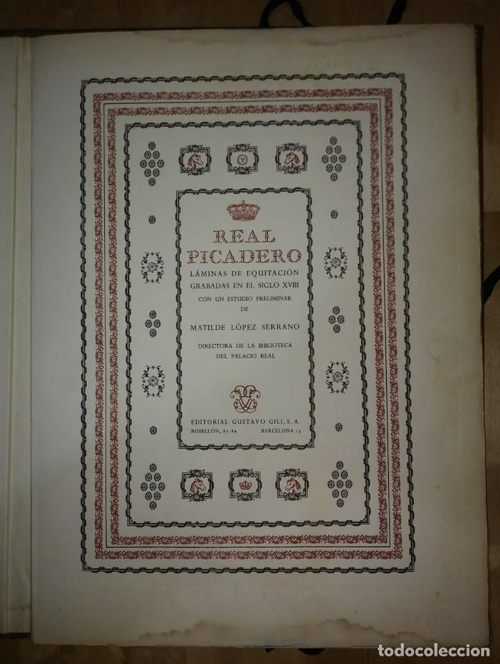Libros de segunda mano: REAL PICADERO: Láminas de equitación grabadas en el siglo XVIII - hípica - caballos - equitación - Foto 2 - 117618115