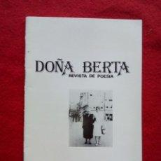Libros de segunda mano: TUBAL DOÑA BERTA 5 REVISTA DE POESIA 24 CM 1984 350 GRS . Lote 117723739