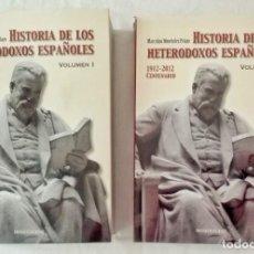 Libros de segunda mano: HISTORIA DE LOS HETERODOXOS ESPAÑOLES.VOL. I Y II.MENÉNDEZ PELAYO. Lote 117758563