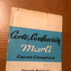 Libros de segunda mano: CARPETA Y LIBRO CON PATRONES SISTEMA MARTI CORTE Y CONFECCION. CANASTILLA. Lote 196036172