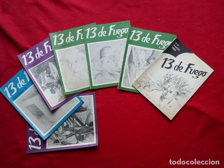 TUBAL 13 DE FUEGO REVISTA DE POESIA 0 1 2 4 5 8 Y 9 23 CM 450 GRS (Libros de Segunda Mano - Bellas artes, ocio y coleccionismo - Otros)