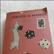 Libros de segunda mano: JUEGO MANOS PROFES. BOSCAR AFICIONADOS1967. Lote 113385774