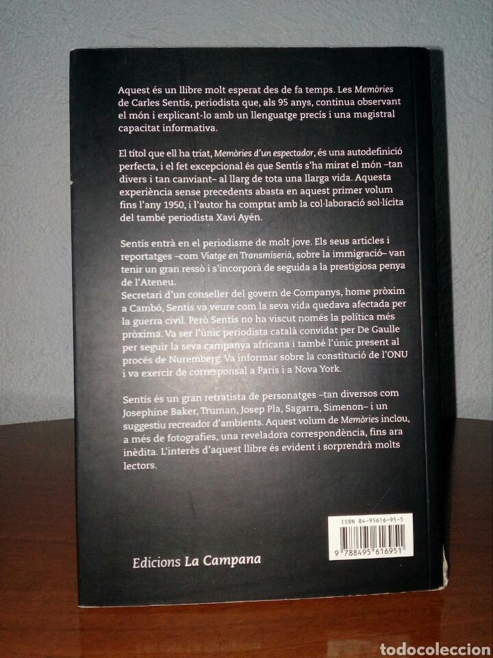 Libros de segunda mano: MEMORIES DUN ESPECTADOR - CARLES SENTÍS - LA CAMPANA - Foto 2 - 117904971