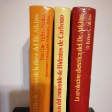 Libros de segunda mano: LA REVOLUCIÓN DIETÉTICA DEL DR. ATKINS · 3 TOMOS · RECETAS Y MENÚS POR F. GARE Y HELEN MONICA. Lote 117995627