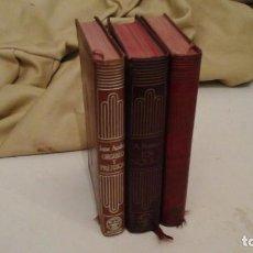 Libros de segunda mano: LOTE DE TRES LIBROS EDITORIAL AGUILAR 1944 , 1945 , 1966 . LEER. Lote 118034035