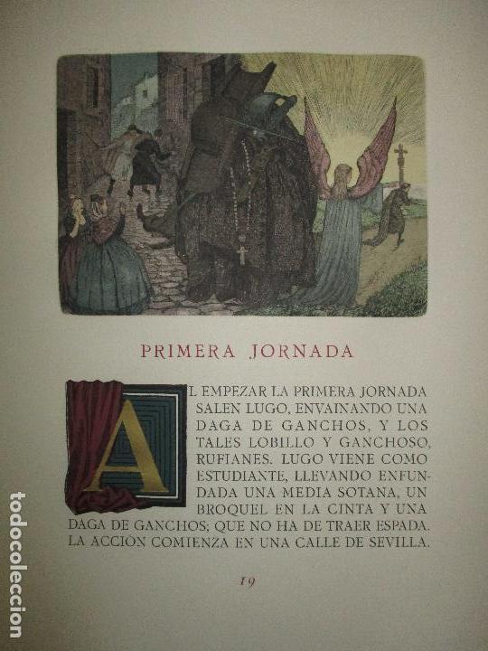 Libros de segunda mano: EL RUFIÁN DICHOSO. CERVANTES SAAVEDRA, Miguel de. 1956. AGUAFUERTES DE CAPMANY. BIBLIOFILIA. - Foto 7 - 118139299