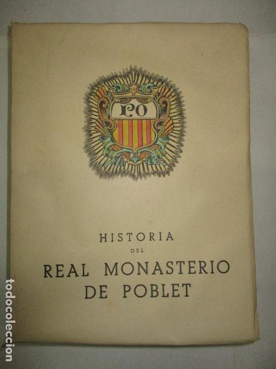 Libros de segunda mano: HISTORIA DEL REAL MONASTERIO DE POBLET. FINESTRES Y DE MONSALVO, Jaime. 6 VOLS. 1947-49. - Foto 3 - 118178683