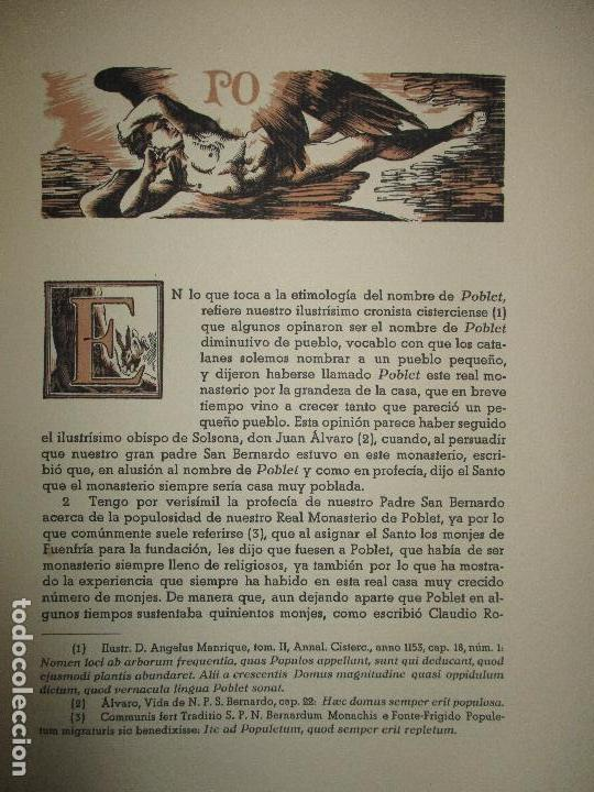 Libros de segunda mano: HISTORIA DEL REAL MONASTERIO DE POBLET. FINESTRES Y DE MONSALVO, Jaime. 6 VOLS. 1947-49. - Foto 8 - 118178683