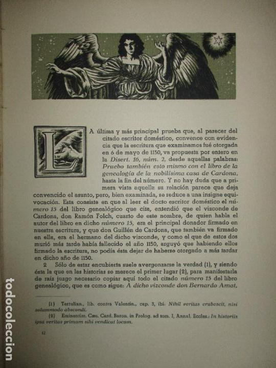Libros de segunda mano: HISTORIA DEL REAL MONASTERIO DE POBLET. FINESTRES Y DE MONSALVO, Jaime. 6 VOLS. 1947-49. - Foto 9 - 118178683