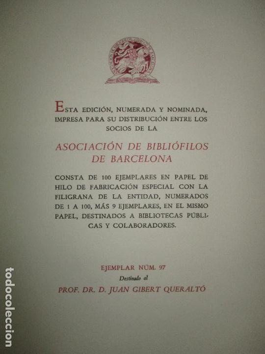 Libros de segunda mano: DIETARI DE LA DIPUTACIÓ DEL GENERAL DE CATALUNYA. 1454 A 1472. FONT, Jacme Ça. 1950. BIBLIOFILIA. - Foto 6 - 118190379