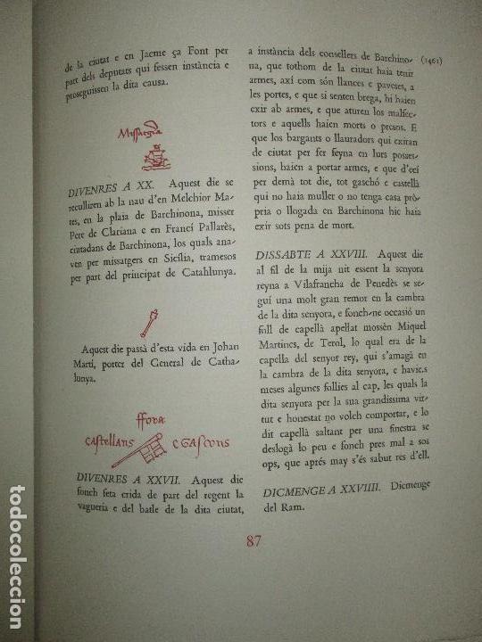 Libros de segunda mano: DIETARI DE LA DIPUTACIÓ DEL GENERAL DE CATALUNYA. 1454 A 1472. FONT, Jacme Ça. 1950. BIBLIOFILIA. - Foto 8 - 118190379