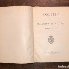 Libros de segunda mano: BOLETÍN DE LA REAL ACADEMIA DE LA HISTORIA. TOMO XCV(22€). Lote 118309359