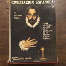 Libros de segunda mano: CIVILIZACIÓN ESPAÑOLA (1)(21€). Lote 118487507