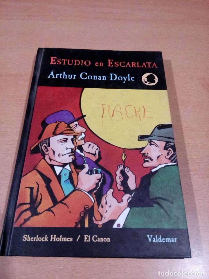 ESTUDIO DE ESCARLATA - ARTHUR CONAN DOYLE - SHERLOCK HOLMES - EL CANON 1 - VALDEMAR (Libros de Segunda Mano - Literatura Infantil y Juvenil - Otros)