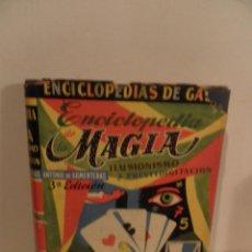 Libros de segunda mano: ENCICLOPEDIA DE LA MAGIA, ILUSIONISMO Y PRESTIDIGITACIÓN - ENCICLOPEDIAS GASSO (1964). Lote 118729719