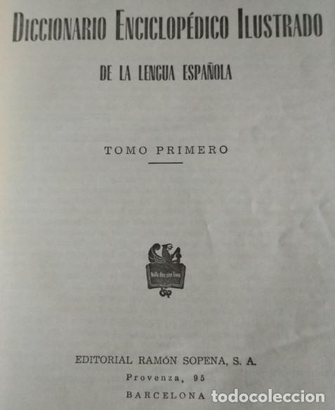 Libros de segunda mano: DICCIONARIO ENCICLOPEDICO ILUSTRADO, SOPENA 1965, 4 TOMOS, LIBROS - Foto 3 - 118755219