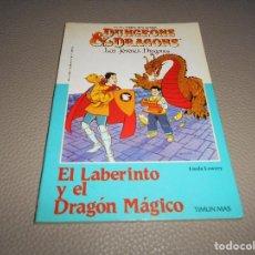 Libri di seconda mano: DUNGEONS AND DRAGONS Nº 4 - EL LABERINTO Y EL DRAGON MAGICO - TIMUN MAS CASI PERFECTO. Lote 118770975