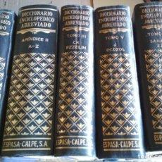 Libros de segunda mano: 4 TOMOS DICCIONARIO ENCICLOPEDICO ABREVIADO, ESPASA CALPE T. I V VII DE 1957, T. II DE 1974. Lote 118771311