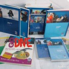 Libros de segunda mano: CURSO OPEN WATER DIVER. BUCEO 6 LIBROS 1 REPETIDO Y 4 DVD SIN DESPRECINTAR. PADI. UNDERWATER.. Lote 118782387