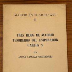 Libros de segunda mano: IEM-MADRID EN EL SIGLO XVI-3 (39€). Lote 118955671