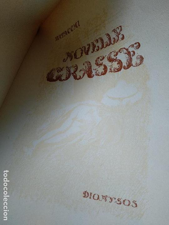 Libros de segunda mano: NOVELLE CRASSE - DIONYSOS - 12 ILUSTRACIONES - DE ADRIANO SCBALDI - 1948 - TORINO - EN ITALIANO - - Foto 3 - 118990487