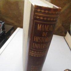 Libros de segunda mano - MANUAL DE HISTORIA UNIVERSAL, TOMO II EDADES ANTIGUA Y MEDIA-195-ESPASA-CALPE - 119005215