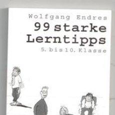 Libros de segunda mano: 99 STARKE LERNTIPPS, WOLFGANG ENDRES. Lote 119204042