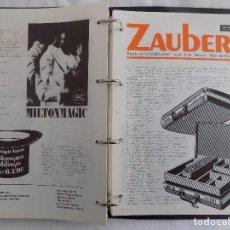 Libros de segunda mano: LIBRERIA GHOTICA. 178 REVISTAS DE MAGIA ZAUBERN. THE MAGIC HANDS.1989. MUY ILUSTRADAS.CON ARCHIVADOR. Lote 119280919