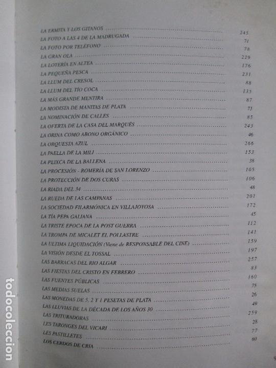 Libros de segunda mano: RELATOS CURIOSOS O ANECDOTAS ALTEANAS. FRANCISCO COELLO. DEDICADO POR EL AUTOR. 2003. - Foto 13 - 119297719