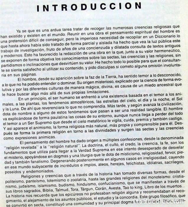 Libros de segunda mano: DICCIONARIO DE SECTAS, CREENCIAS Y RELIGIONES - FELIPE ALONSO FERNÁNDEZ-CHECA 1995 - VER INDICE - Foto 3 - 119332787