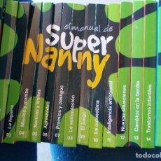 Libros de segunda mano: COLECCIÓN DE LIBROS Y DVD MANUAL SUPER NANNY 16 LIBROS CON SU DVD 16. Lote 119867479