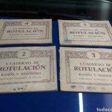 Libros de segunda mano: CUADERNO ROTULACIÓN RAMÓN MESONERO LOTE DE 4 NUM.2-3-4 Y 5. Lote 138732777