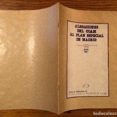 Libros de segunda mano: REV-FOLLET-SEPARAT-PROSP-GUIAS(13€)-ALEGACIONES DEL COAM AL PLAN ESPECIAL DE MADRID. Lote 120065455