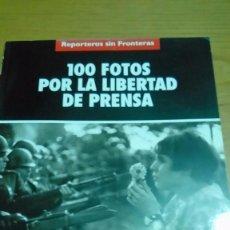 Libros de segunda mano: FOTOGRAFÍAS DE MARX RIBOUD, 100 FOTOS POR LA LIBERTAD DE PRENSA, REPORTEROS SIN FRONTERAS. Lote 120082751