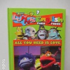 Libros de segunda mano: LIBRO-DVD: LOS LUNNIS: ENGLISH PARA TODOS, NUMERO 7. Lote 120102391