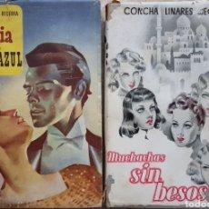 Libros de segunda mano: 2 LIBROS CONCHA LINARES BECERRA. LA NOVIA DE LA COSTA AZUL Y MUCHACHAS SIN BESOS. MADRID 1943-1944. Lote 120138574