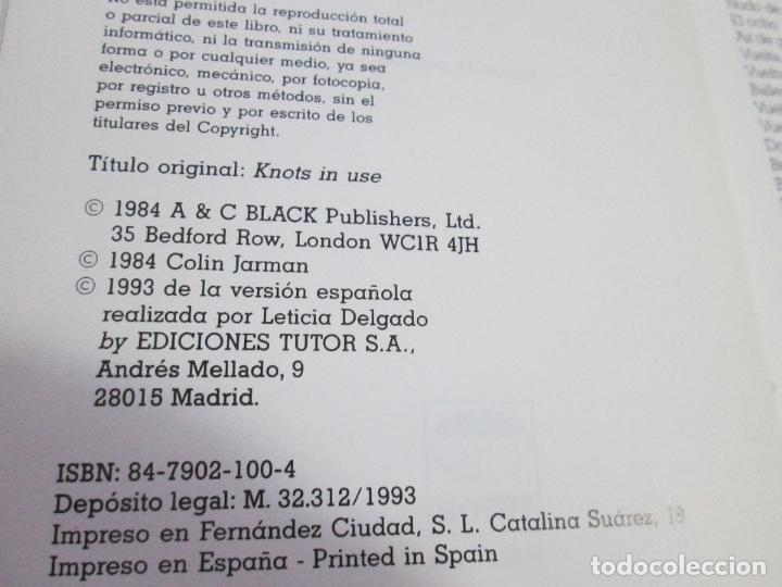 Libros de segunda mano: libro-los nudos más utilizados en náutica-colin jarman-tutor náutica-2ªedición-1993-buen estado - Foto 8 - 120214375