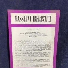 Libros de segunda mano: RASSEGNA IBERISTICA GIOVANNI MEO ZILIO APUNTES CANTO GENERAL EN ITALIANO 24X17CMS. Lote 120249823