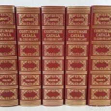 Libros de segunda mano: COSTUMARI CATALÀ. EL CURS DE L´ANY. 5 TOMOS. JOAN AMADES. 1982/1983.. Lote 120290055