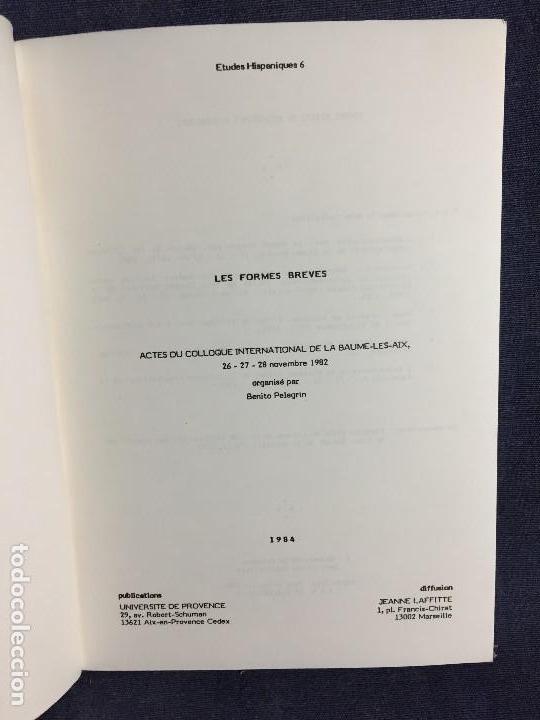 Libros de segunda mano: etudes hispaniques 6 les formes breves 1984 universidad provence estudios hispanicos 21x15cms - Foto 3 - 120298071