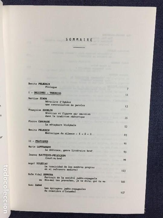 Libros de segunda mano: etudes hispaniques 6 les formes breves 1984 universidad provence estudios hispanicos 21x15cms - Foto 4 - 120298071