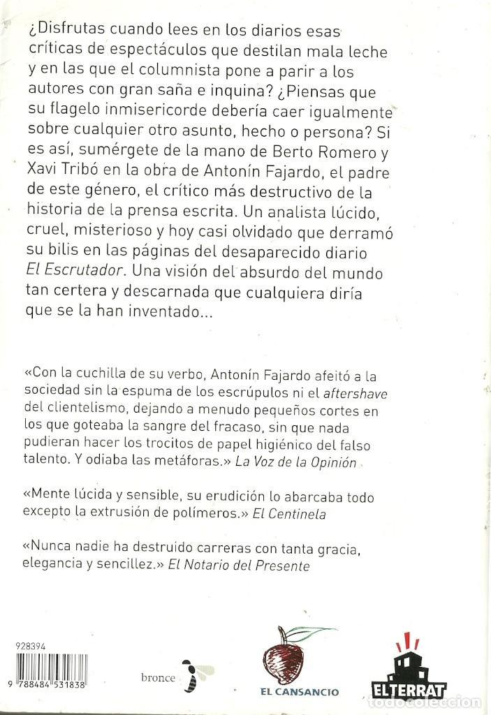 Libros de segunda mano: Berto Romero y Xavi Tribó-Cero estrellas:críticas de un mundo absurdo.2008. - Foto 2 - 120312659
